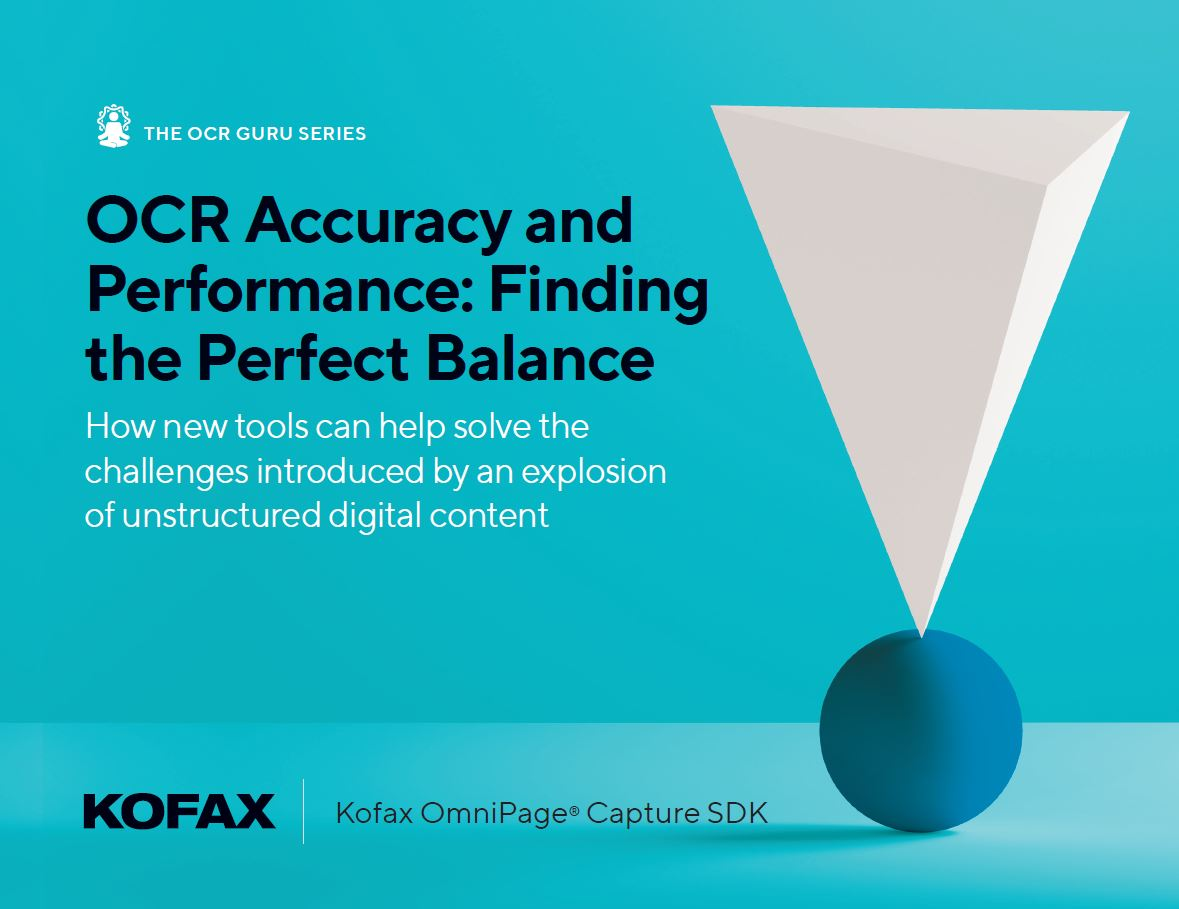 OCR accuracy and performance - finding the perfect balance