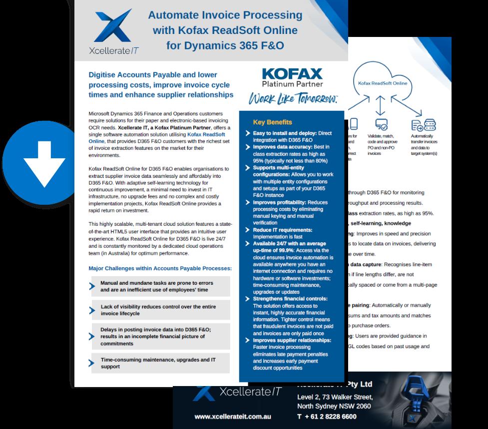 Xcellerate IT ReadSoft Online Brochure - Dynamics 365 F&O